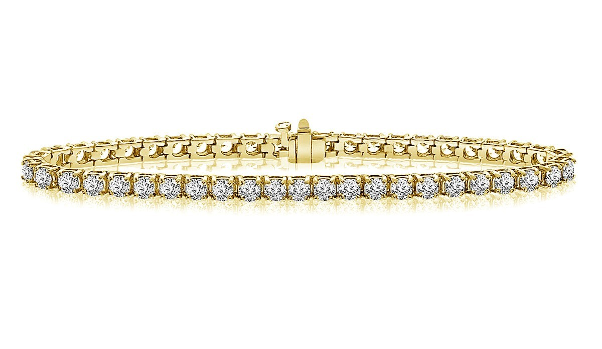 Clic Diamond Tennis Bracelet In 14k Yellow Gold 7 Ct Tw