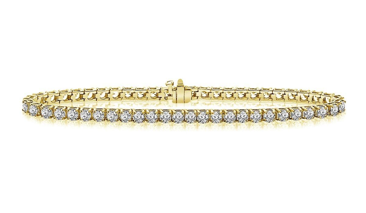 Clic Diamond Tennis Bracelet In 14k Yellow Gold 5 Ct Tw