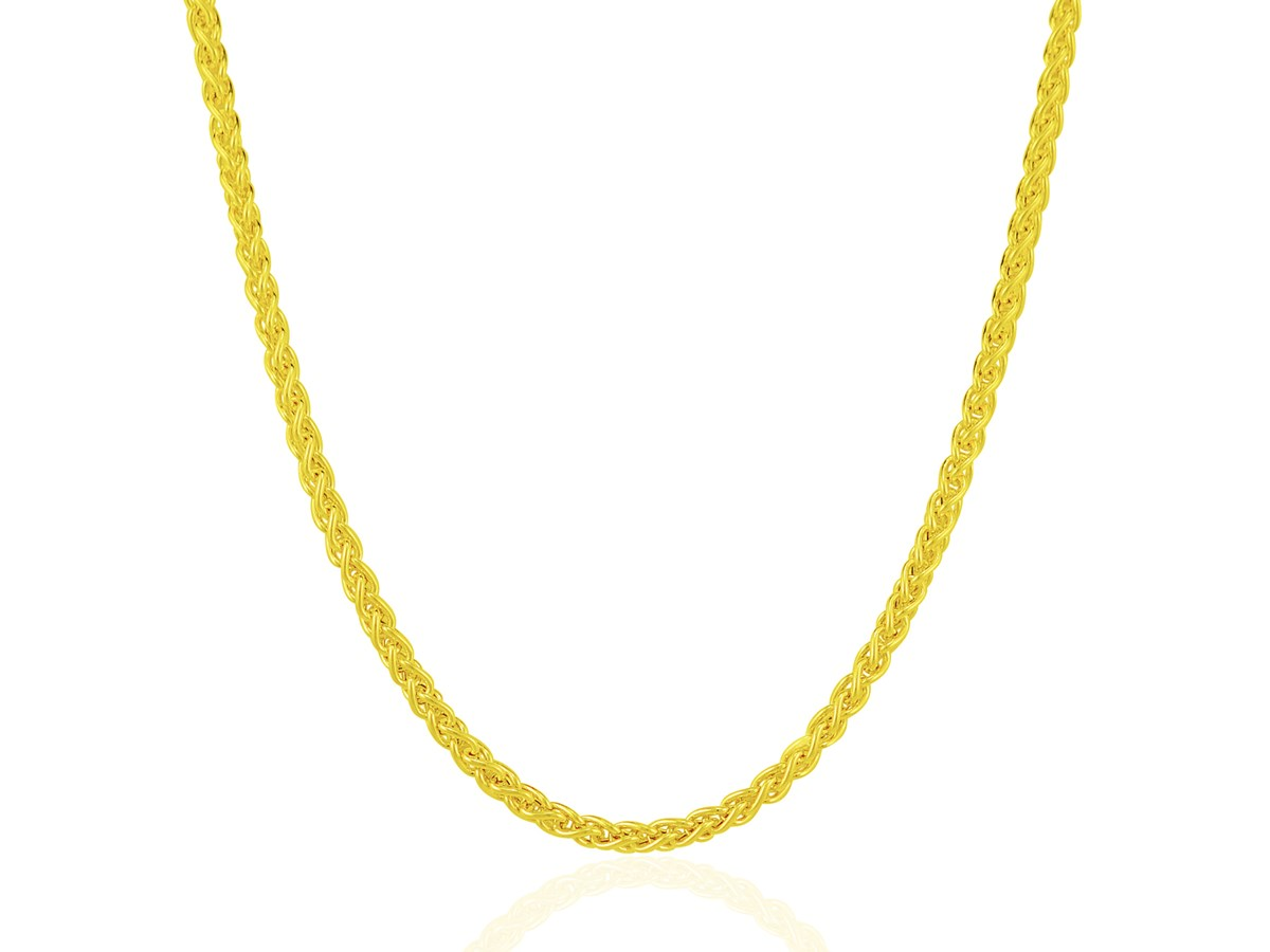 Classic 3.3mm Light Weight Wheat Chain in 14k Yellow Gold - Richard Cannon Jewelry
