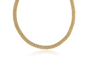5-Row Panther Style Chain Necklace in 14K Yellow Gold