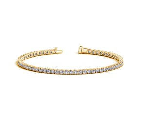 Round Diamond Tennis Bracelet in 14K Yellow Gold (3 ct. tw.)