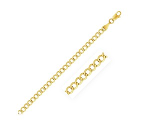 Curb Chain in 10K Yellow Gold (4.4 mm)