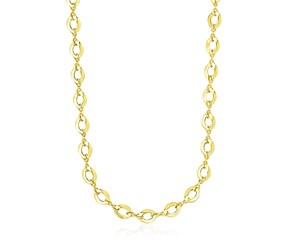 Marquis and Textured Infinity Necklace in 14K Yellow Gold