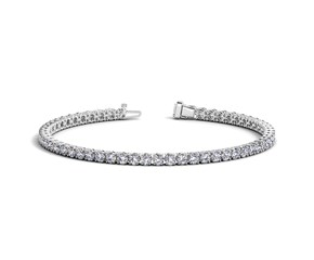 Round Diamond Tennis Bracelet in 14K White Gold (5 ct. tw.)