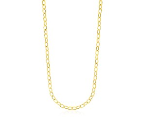 Polished Cable Chain Design Necklace in 14K Yellow Gold