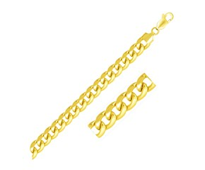 Light Miami Cuban Chain in 10K Yellow Gold (8.0mm)