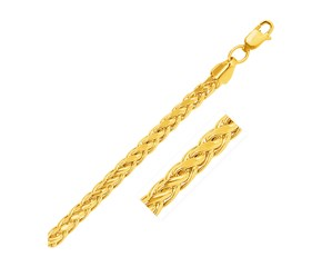 Diamond Cut Round Franco Chain in 14K Yellow Gold (5.2mm)