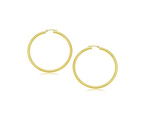 Classic Hoop Earrings in 10K Yellow Gold (25mm Diameter) (3.0mm)
