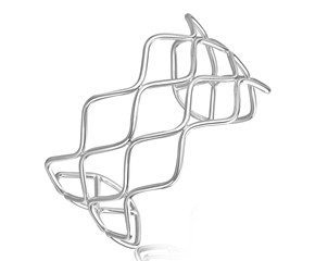 Wavy Multi Wire Cuff in Rhodium Plated Sterling Silver