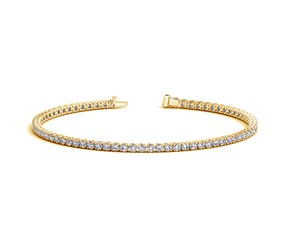Round Diamond Tennis Bracelet in 14K Yellow Gold (2 ct. tw.)