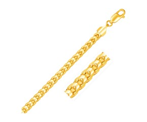 Solid Diamond Cut Round Franco Chain in 14K Yellow Gold (5.S