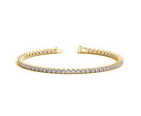 Round Diamond Tennis Bracelet in 14K Yellow Gold (4 ct. tw.)