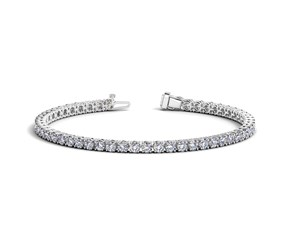 Round Diamond Tennis Bracelet in 14K White Gold (6 ct. tw.)