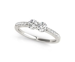 Round Two Stone Diamond Ring 14K White Gold (5/8 ct. tw.)