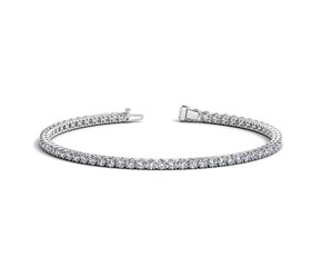 Round Diamond Tennis Bracelet in 14K White Gold (3 ct. tw.)