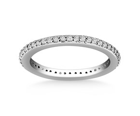 Traditional Round Cut Diamond Eternity Ring in 14K White Gold