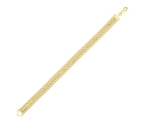 Bar Mesh Type Bracelet in 14K Yellow Gold