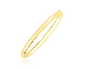 Polished Dome Style Bangle in 10K Yellow Gold