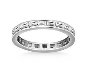 Channel Set Baguette Diamond Eternity Ring in 14K White Gold