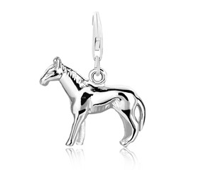Standing Horse Charm in Sterling Silver