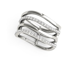 Multi-Band Diamond Ring in 14K White Gold (3/8 ct. tw.)