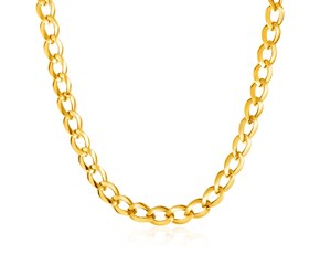 "14K Gold 18"" Curb Style Necklace"