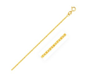 Mariner Link Anklet in 10K Yellow Gold (1.2mm)