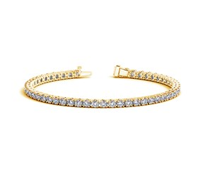 Round Diamond Tennis Bracelet in 14K Yellow Gold (6 ct. tw.)