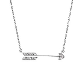 Sterling Silver Arrow Pendant with Diamonds