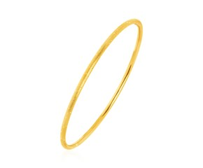 Textured Bangle with Yellow Finish in Sterling Silver