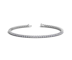 Round Diamond Tennis Bracelet in 14K White Gold (2 ct. tw.)