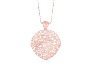 Freeform Weave Shield Pendant in 14K Rose Gold