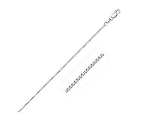 Sterling Silver Rhodium Plated Box Chain (1.1 mm)