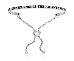 Stainless Steel The Only Journey Is The Journey Within Adjustable Bracelet