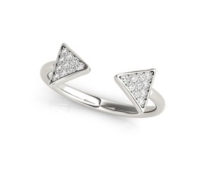 Arrowhead Design Ring with Diamonds in 14K White Gold (1/5 ct. tw.)
